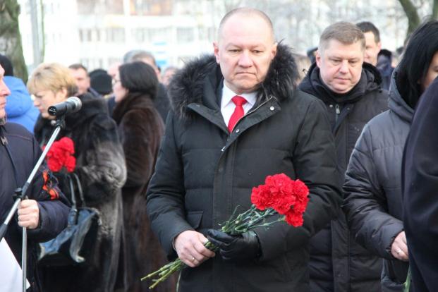 На районном митинге, посвященном Дню памяти воинов-интернационалистов 15 февраля 2020 г.