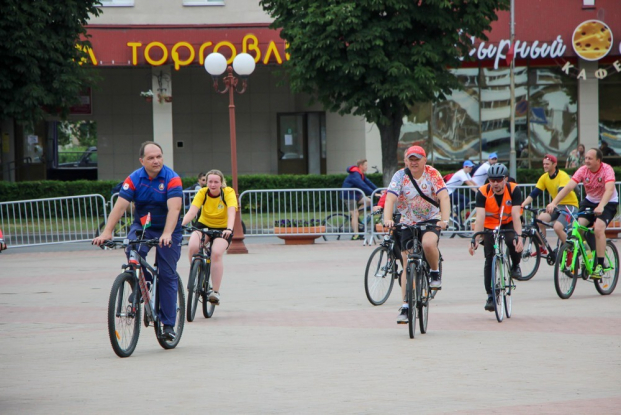 Во время велопробега по местам боевой славы региона, июль 2021 г.