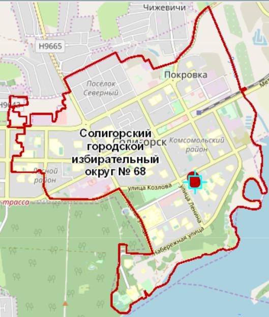 Найти конкретный адрес в избирательном округе можно с помощью  интерактивной карты